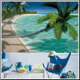 Tropical Vacation XL Prepasted Wallpaper Mural