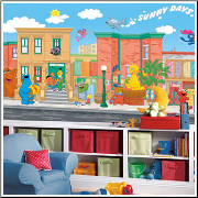 Sesame Street XL Prepasted Wallpaper Mural