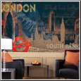 Streets of London XL Prepasted Wallpaper Mural