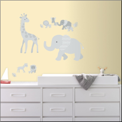 Baby Safari Giant Wall Decals