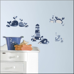 Nautical Sea Friends Peel and Stick Wall Decals