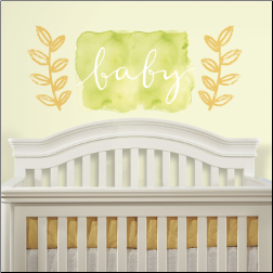 Kathy Davis Watercolor Baby Giant Wall Decals