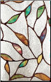"Cascade Stained Glass Window Film 12"" x 83"""