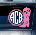 Cowgirl Boot Block Monogram Car Window Decal