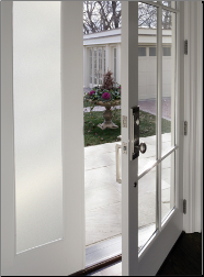 Decorating Sidelights and Transoms with Adhesive-free Window Film to Add Beauty and Privacy