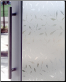 Etched Leaf Decorative Window Film