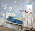 Fish'n Sharks Peel and Stick Wall Decals