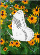 "Butterfly Static Cling Oval Window Decal 4"" x 6"" (Reversed)"