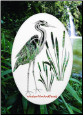 Egret & Cattails Left Static Cling Window Decal