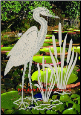 Egret & Cattails Left (Reversed) Static Cling Window Decal