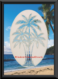 Decorative Etched Glass Decal