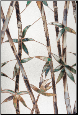"Glass Bamboo Decorative Window Film 24"" x 36"""
