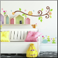Happi Scroll Branch Wall Decals