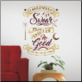 Harry Potter Marauder's Map Quote Giant Wall Decals