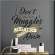 Harry Potter Muggles Quote Giant Wall Decals