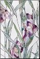 "Purple Iris Stained Glass Window Film 24"" x 36"""