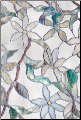 "Jasmine Stained Glass Window Film 24"" x 36"""