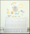 Noah's Ark BLUE Pastel Pairs Giant Peel and Stick Wall Decals