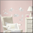 Kathy Davis Gray Baby Animals Wall Decals