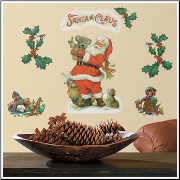 Santa Removable Wall Stickers