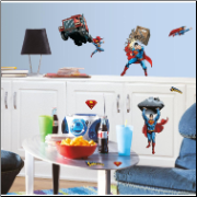 Superman Day of Doom Wall Decals