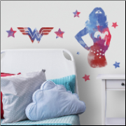 Wonder Woman Watercolor Giant Wall Decals