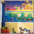 Noah's Submarine XL Prepasted Wallpaper Mural