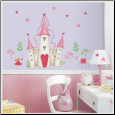 Princess Castle Giant Wall Decal