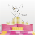 Tinker Bell Headboard Giant Wall Decal