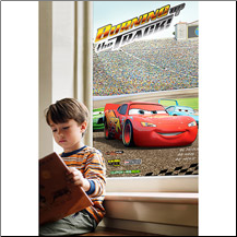 Disney Cars Adhesive-Free Window Film Poster