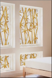 Bamboo Stained Glass Window Film