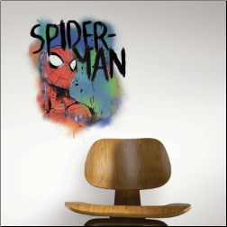 Spiderman Watercolor Wall Decals
