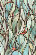 "Savannah Stained Glass Window Film 24"" x 36"""