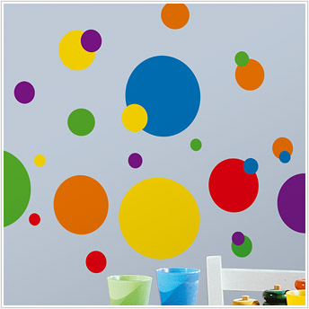 Colorful Polka Dots Vinyl Wall Stickers
