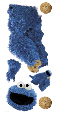 Sesame Street Cookie Monster Giant Wall Decal
