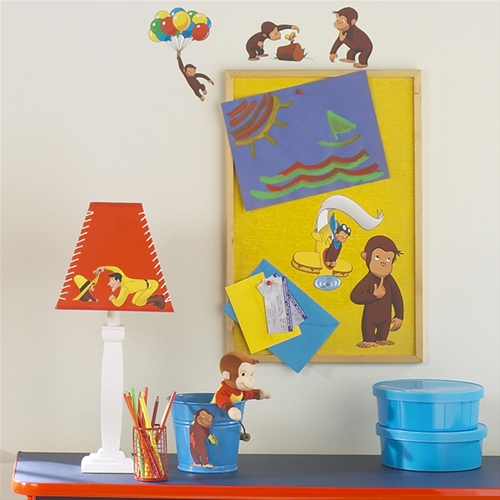 Curious george peel and stick wall stickers for Curious george giant wall mural
