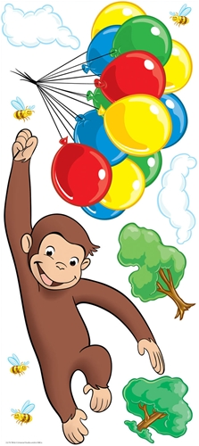 Curious George Giant Wall Sticker