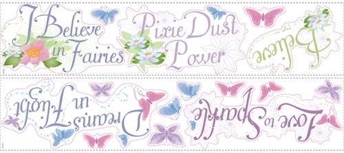 Disney Fairy Phrases Peel and Stick Stickers