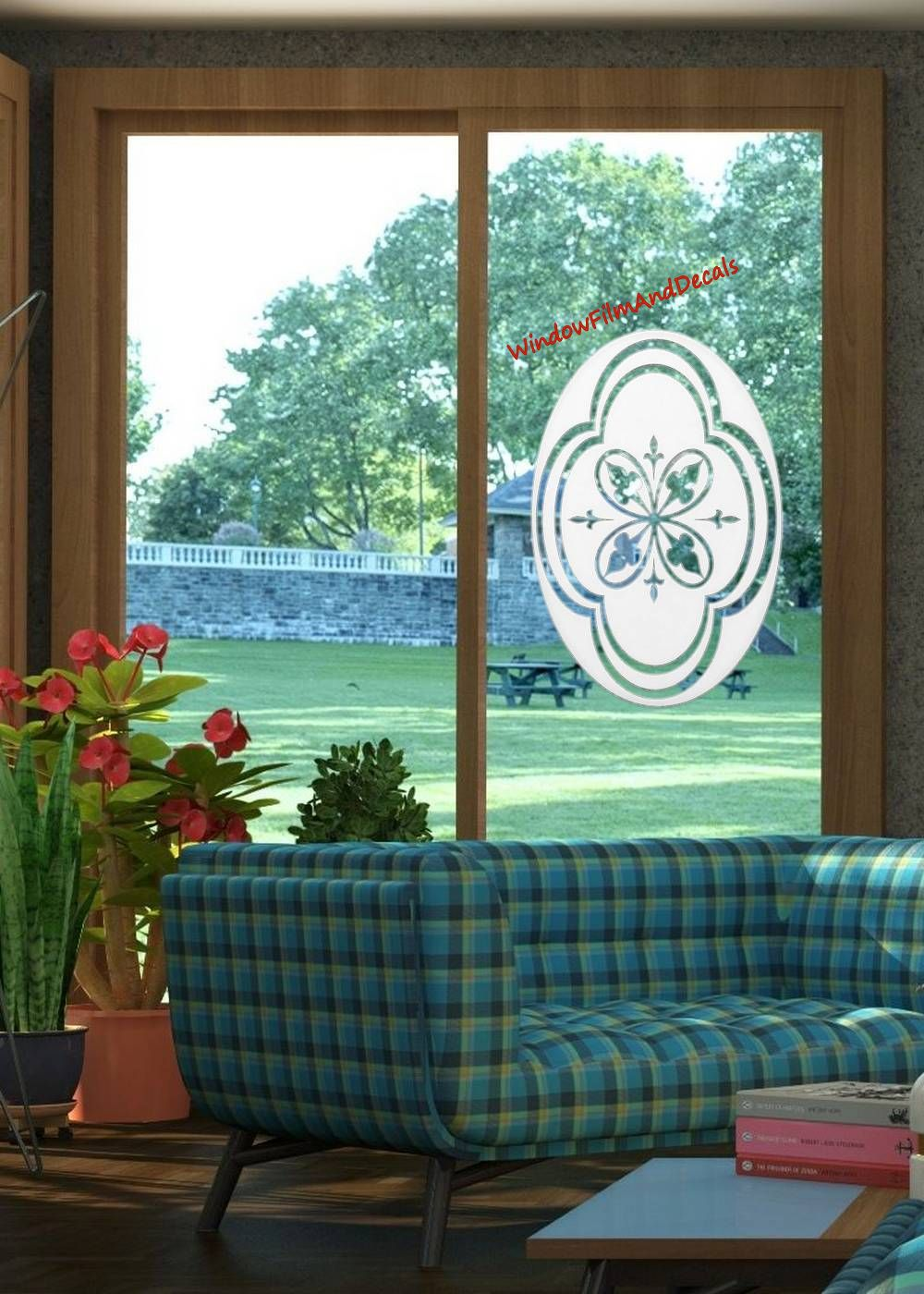Decorative Etched Glass Window Decal