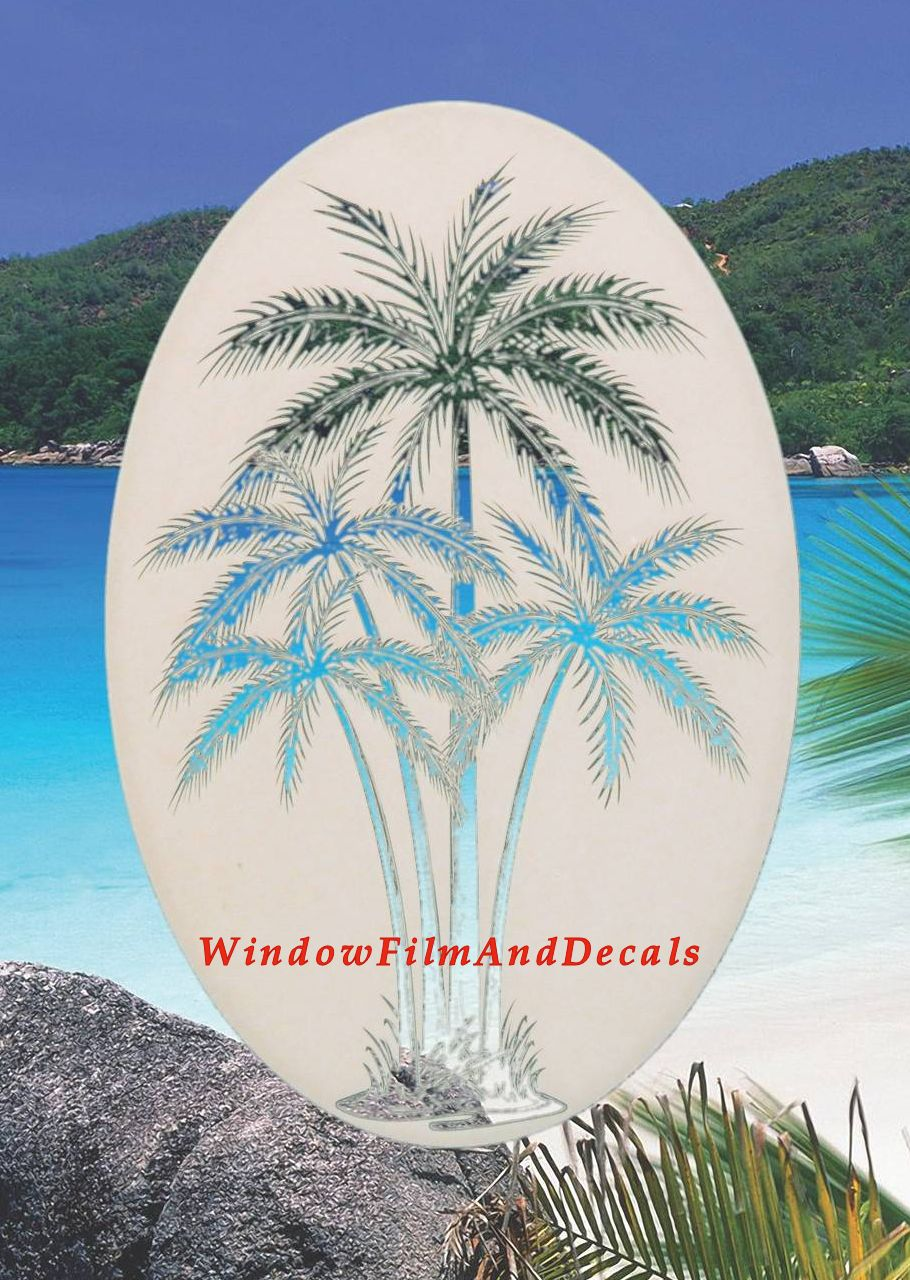 Rent To Own Rv >> Palm Tree Etched Glass Vinyl Window Decal