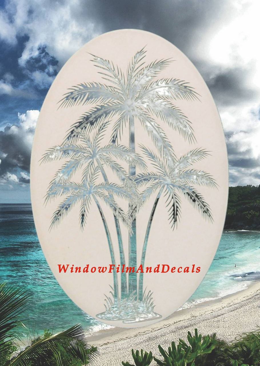 Rv Rent To Own >> Palm Tree Etched Glass Vinyl Window Decal