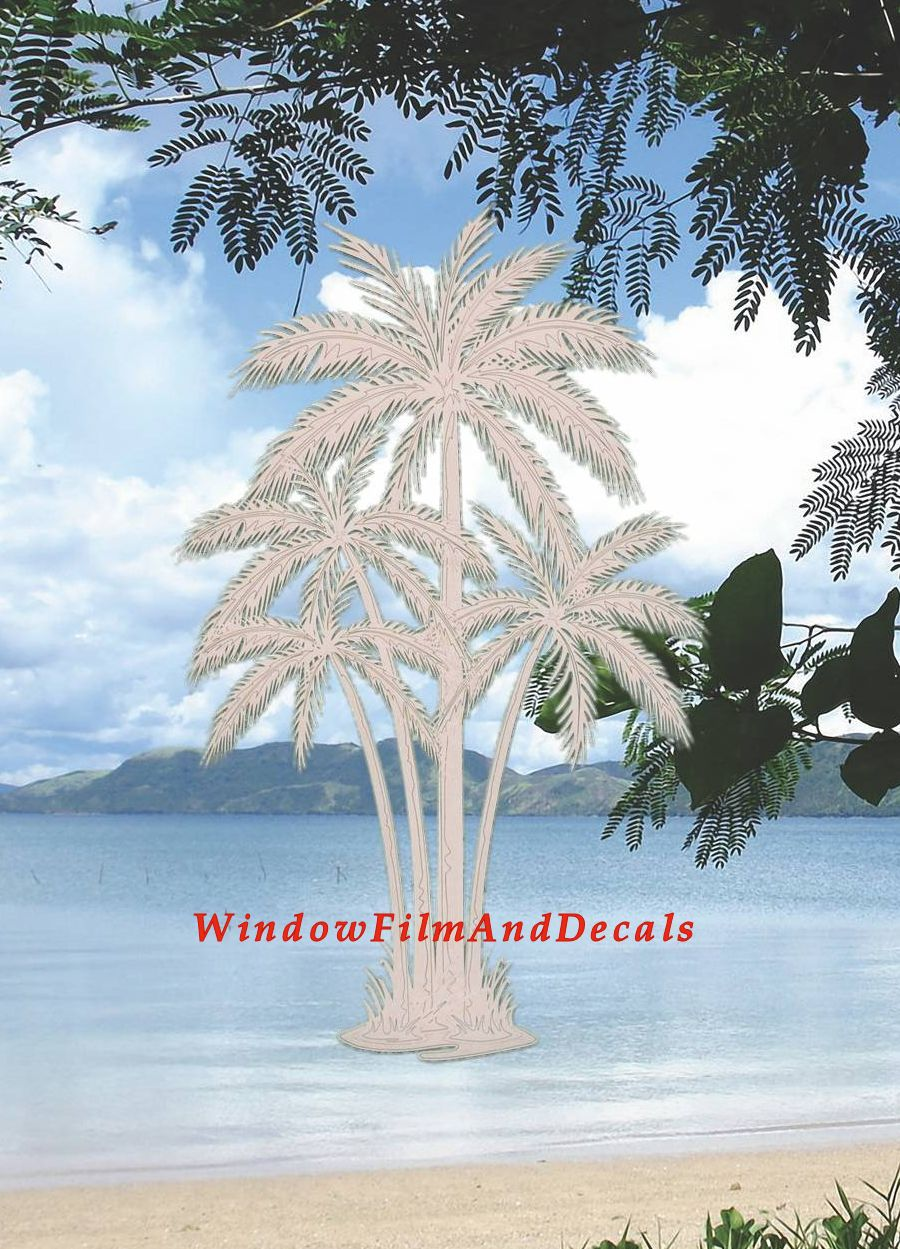 Reversed Palm Tree Window Decal