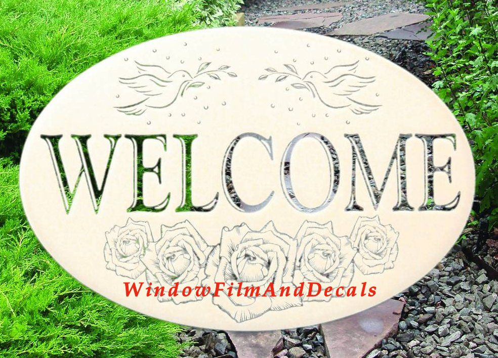 Welcome Sign Window Cling
