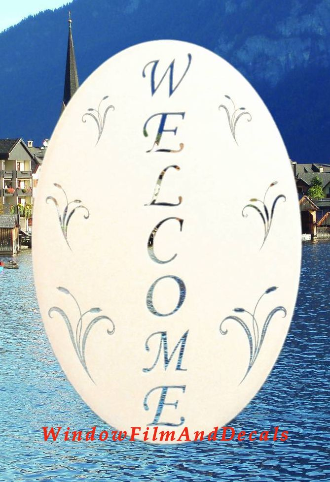 Welcome Sign Window Decal