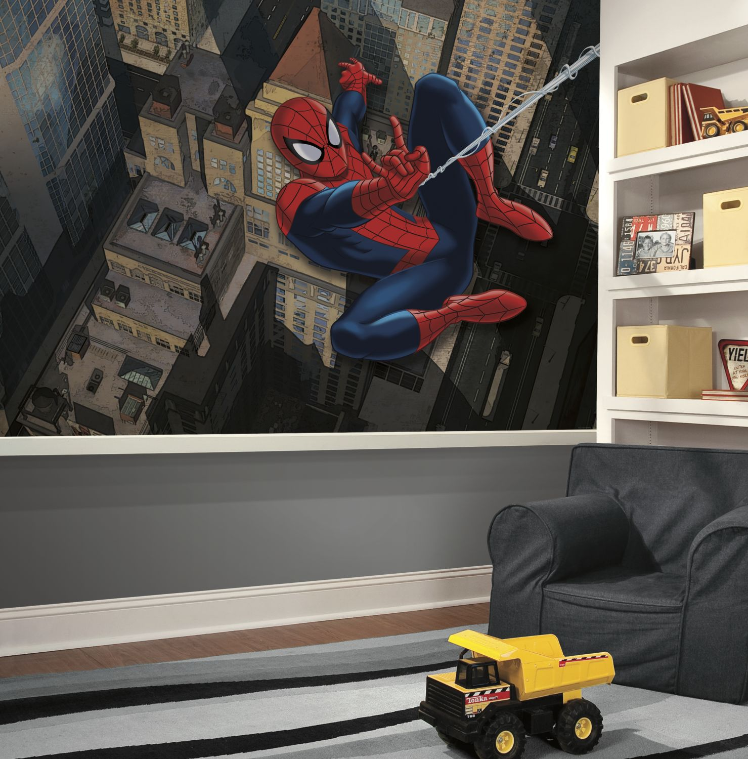 Ultimate spider man xl wall mural ultimate spiderman cityscape xl wall mural amipublicfo Choice Image