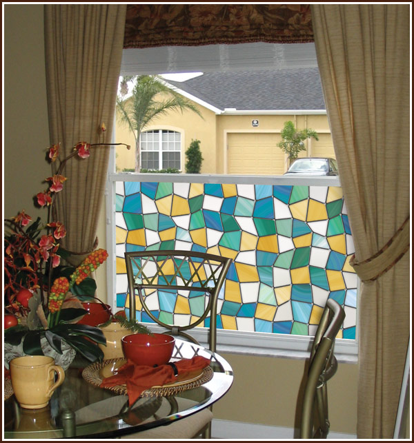 Mirage privacy stained glass window film for Make your own stained glass window film
