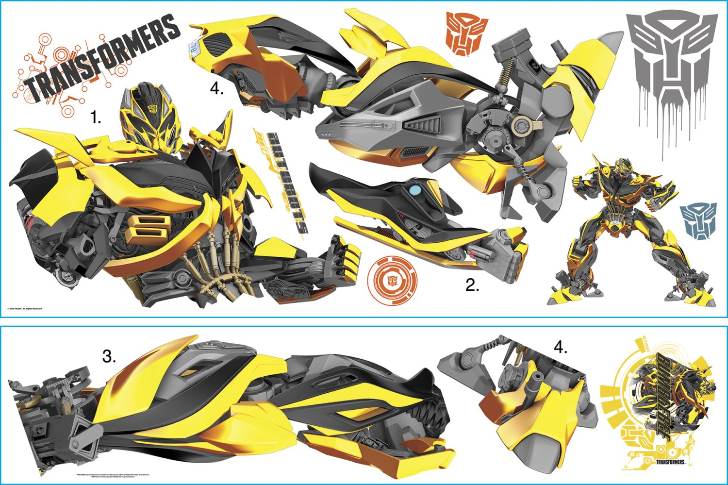 transformers bumblebee giant wall decal
