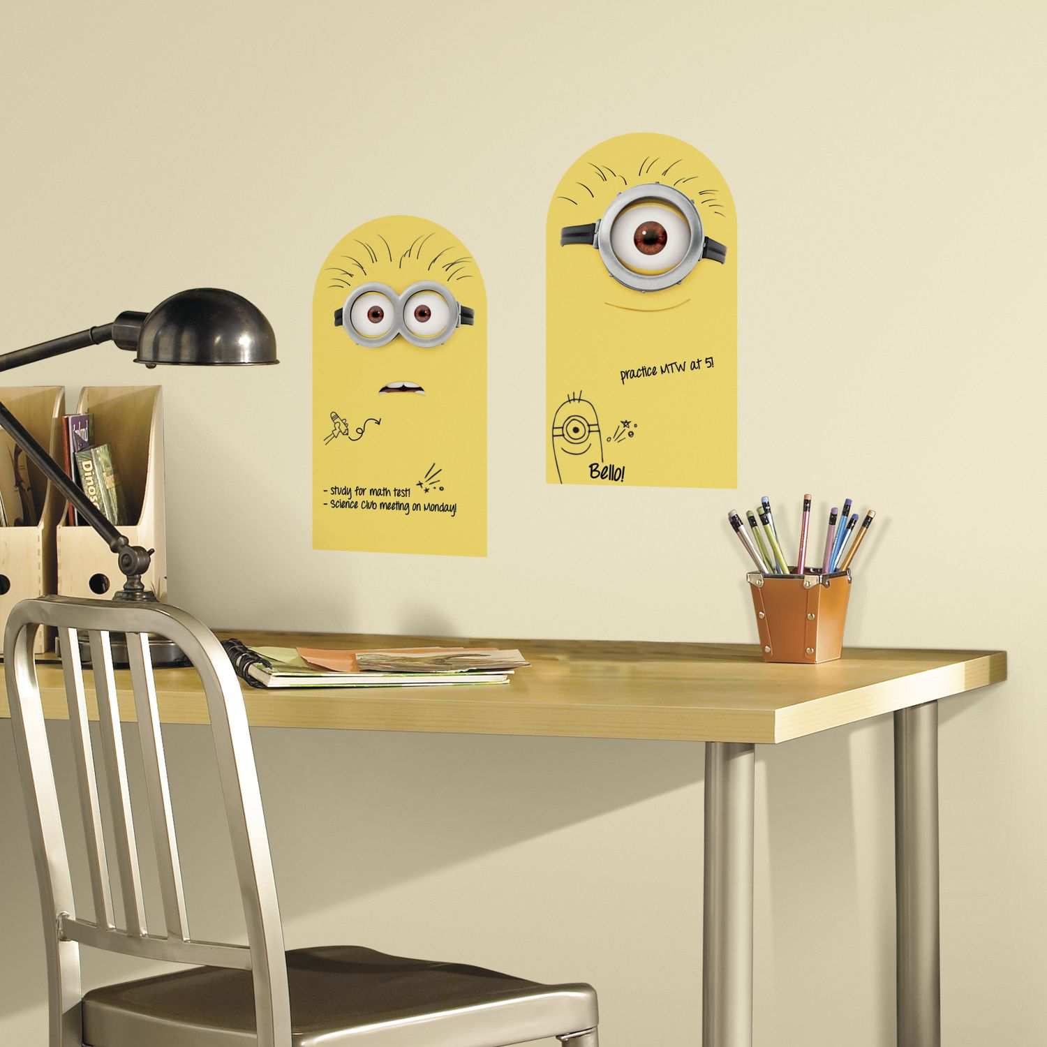 Despicable me dry erase minions peel stick wall decals despicable me dry erase minions wall decals amipublicfo Images
