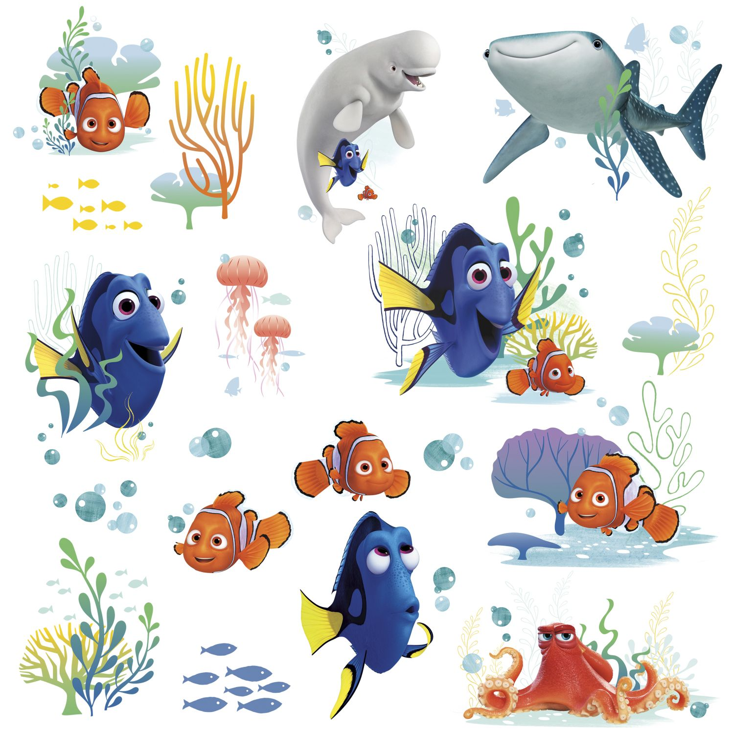 Finding dory peel and stick wall decals set for Finding dory wall decals