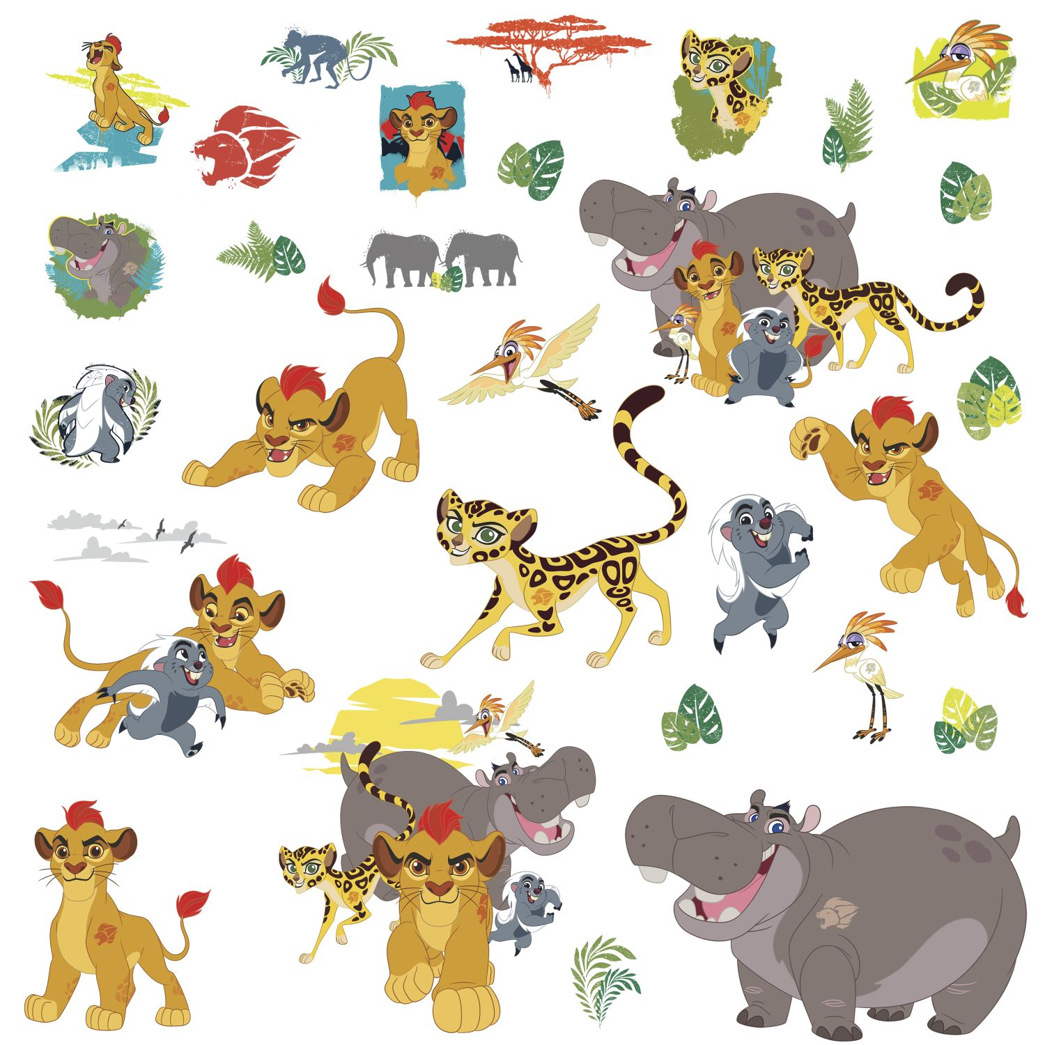 the lion guard wall decals set disney s the lion guard wall stickers